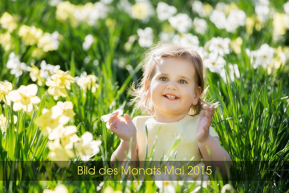 Kinderfotos im Blumenfeld München