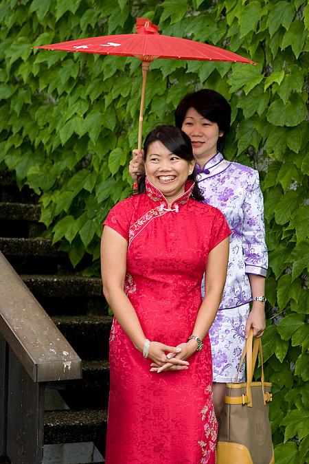 Asiatische Hochzeitszeremonie am Eibsee