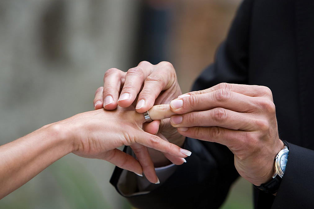 Kirchliche Trauung Ringwechsel