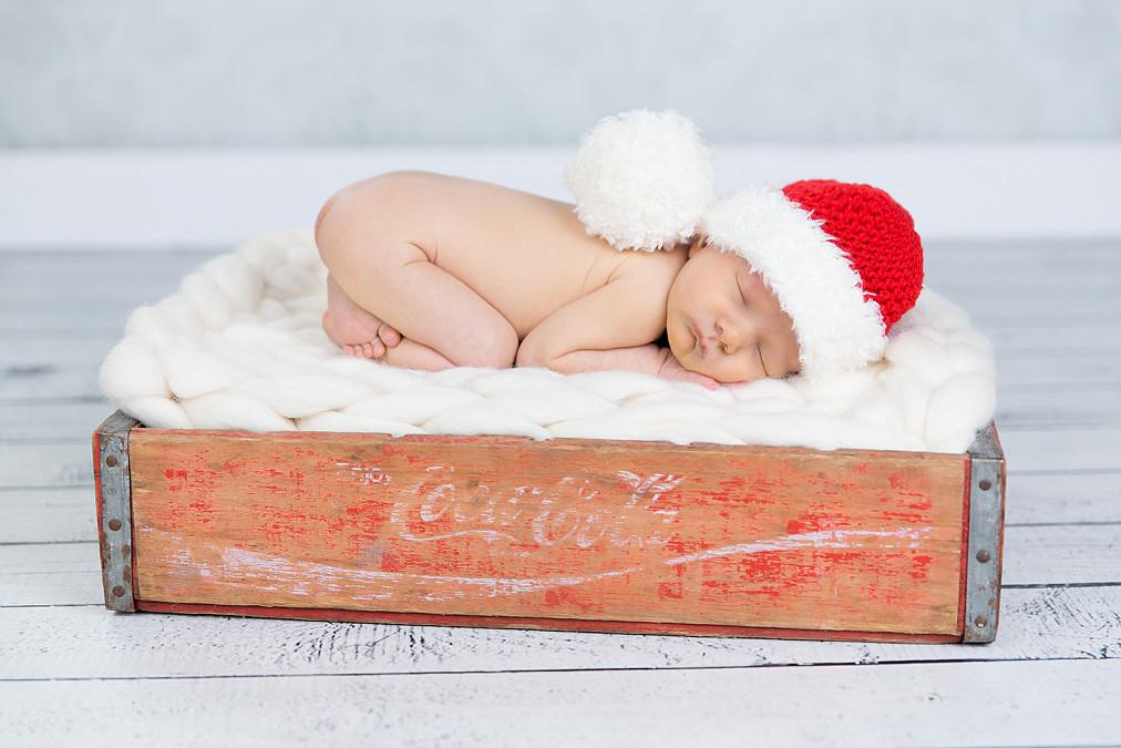 weihnachtliche Neugeborenenfotos in Fürstenfeldbruck